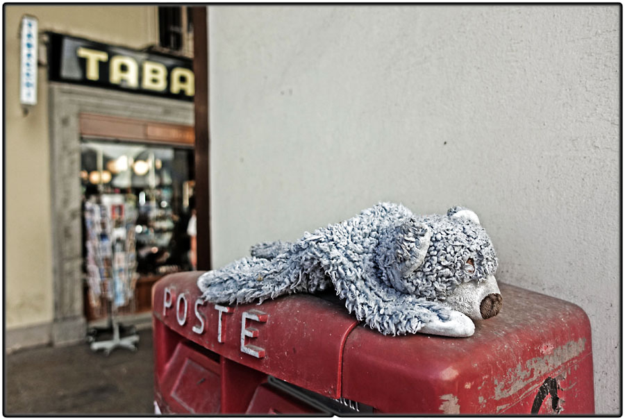 Lost soft toy